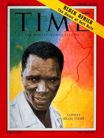 Time - Sekou Toure - Feb. 16, 1959 - Guinea - Africa