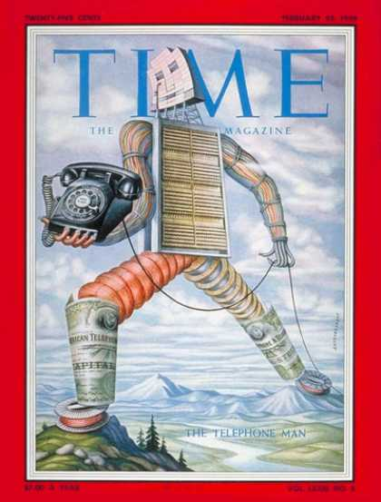 Time - The Telephone Man - Feb. 23, 1959 - Telecommunications - Business
