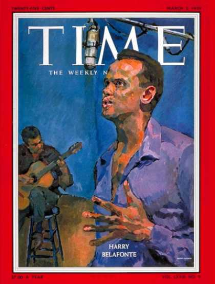 Time - Harry Belafonte - Mar. 2, 1959 - Singers - Music