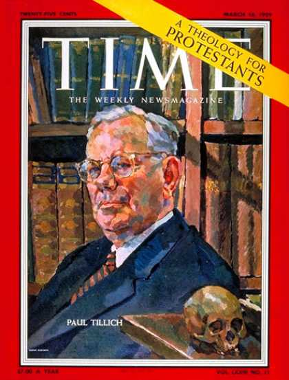 Time - Paul Tillich - Mar. 16, 1959 - Religion - Christianity