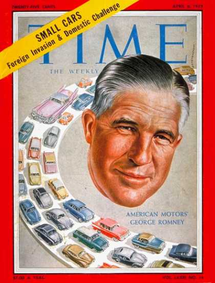 Time - George Romney - Apr. 6, 1959 - Michigan - Cars - American Motors - Business