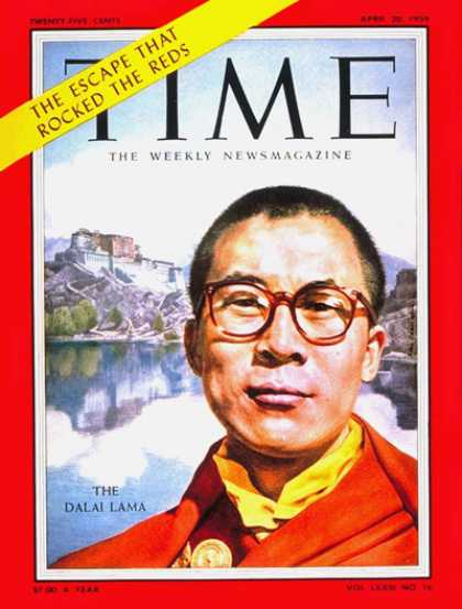 Time - The Dalai Lama - Apr. 20, 1959 - Religion - Buddhism - Tibet - Most Popular