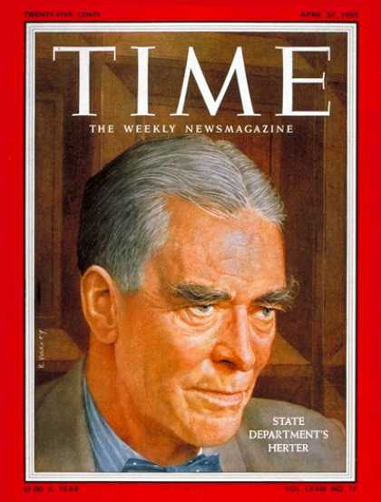 Time - Christian A. Herter - Apr. 27, 1959 - Politics