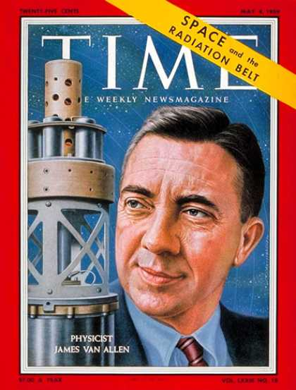 Time - James Van Allen - May 4, 1959 - Physicists - Space Exploration