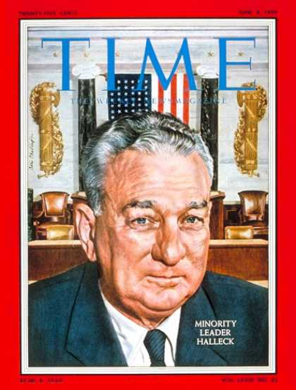 Time - Charles Halleck - June 8, 1959 - Congress - Indiana - Politics