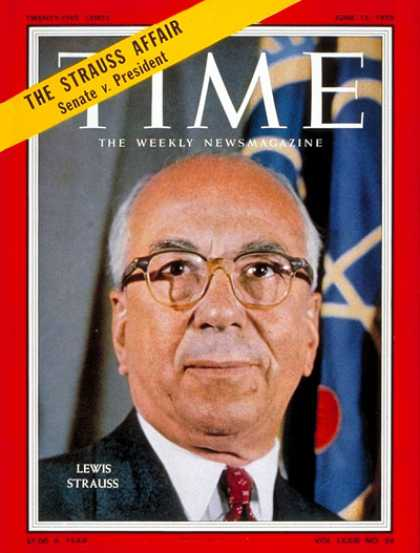 Time - Lewis Strauss - June 15, 1959 - Business - Politics