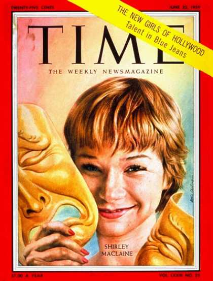 Time - Shirley MacLane - June 22, 1959 - Shirley MacLaine - Actresses - Movies