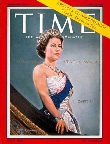 Time - Queen Elizabeth II - June 29, 1959 - Royalty - Great Britain