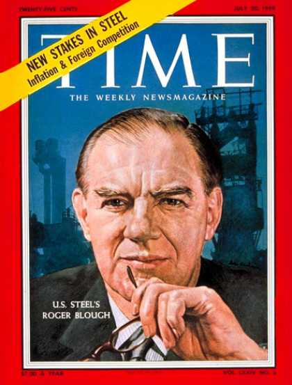 Time - Roger Blough - July 20, 1959 - Economy - Steel - Business