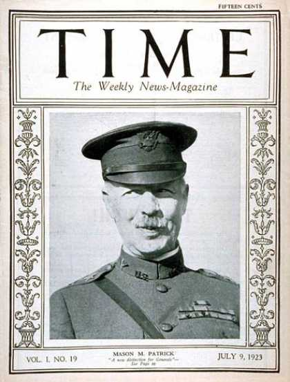 Time - Major General Patrick - July 9, 1923 - Military