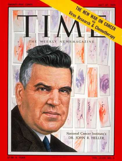 Time - Dr. Roger Heller - July 27, 1959 - Cancer - Medical Research - Health & Medicine