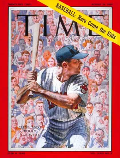Time - Rocky Colavito - Aug. 24, 1959 - Baseball - Cleveland - Sports
