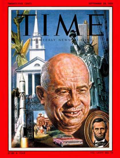 Time - Nikita Khrushchev - Sep. 28, 1959 - Russia - Communism