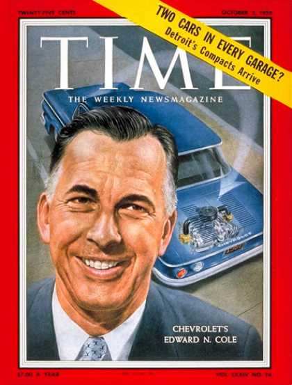 Time - Edward N. Cole - Oct. 5, 1959 - Cars - Chevrolet - Automotive Industry - Transpo