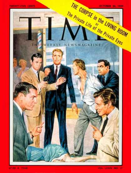 Time - TV's Private Eyes - Oct. 26, 1959 - Television - Broadcasting