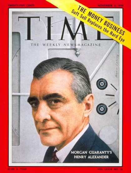 Time - Henry Aexander - Nov. 2, 1959 - Business - Banking - Economy
