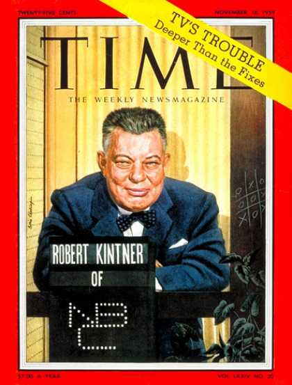 Time - Robert Kintner - Nov. 16, 1959 - Television - Broadcasting - NBC