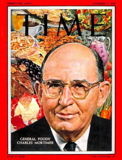 Time - Charles Mortimer - Dec. 7, 1959 - Food - Business