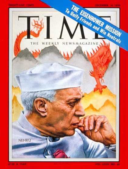 Time - Jawaharlal Nehru - Dec. 14, 1959 - India - Red China