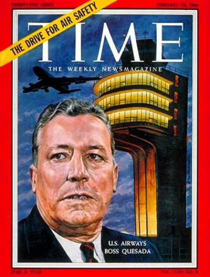 Time - Pete Quesada - Feb. 22, 1960 - Aviation - Transportation - Business