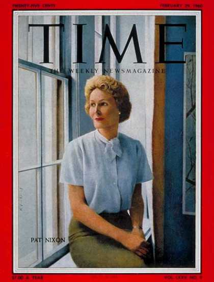 Time - Pat Nixon - Feb. 29, 1960 - First Ladies
