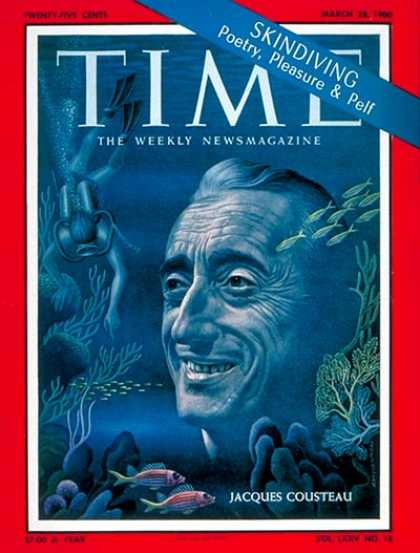Time - Jacques Cousteau - Mar. 28, 1960 - Oceans - Environment