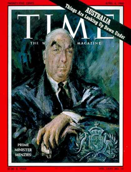 Time - Robert G. Menzies - Apr. 4, 1960 - Australia