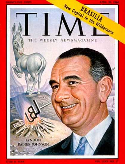 Time - Lyndon Baines Johnson - Apr. 25, 1960 - Lyndon B. Johnson - Congress - Senators