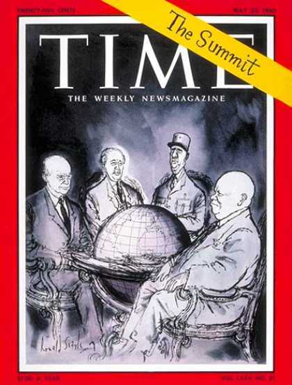 Time - Paris Summit - May 23, 1960 - Cold War - France - Russia - Great Britain