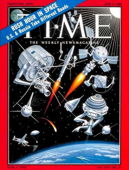 Time - U.S. Satellites - June 6, 1960 - NASA - Spacecraft - Satellites - Space Explorat