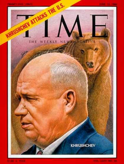 Time - Nikita Khrushchev - June 13, 1960 - Russia