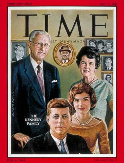 Time - The Kennedy Family - July 11, 1960 - John F. Kennedy - Jacqueline Kennedy - Kenn