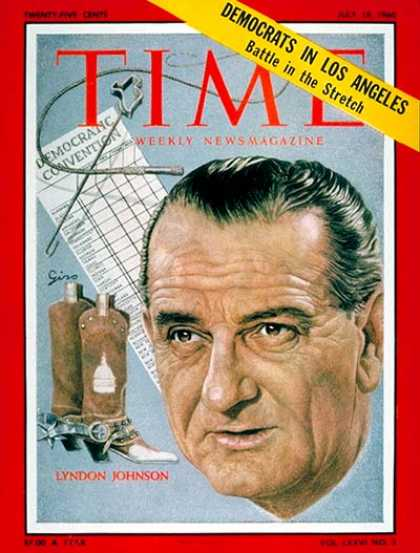 Time - Lyndon B. Johnson - July 18, 1960 - Presidential Elections - Texas - Politics