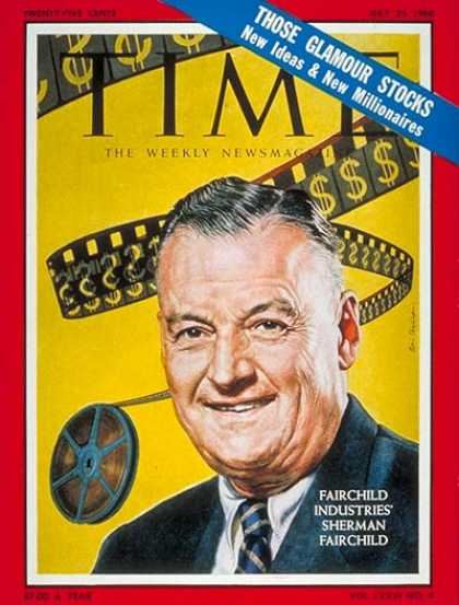 Time - Sherman F. Fairchild - July 25, 1960 - Movies - Business