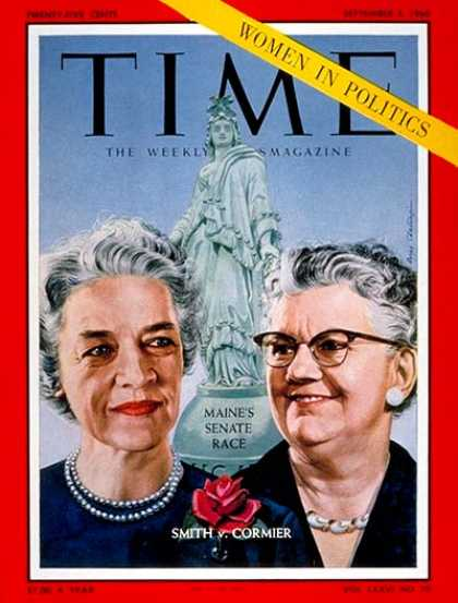 Time - Margaret Chase Smith, Lucia M. Cormier - Sep. 5, 1960 - Congress - Women - Maine