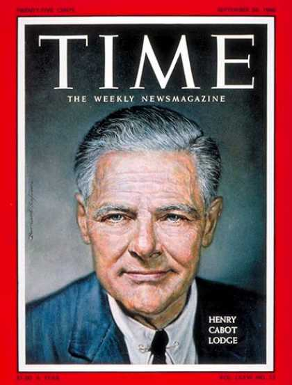 Time - Henry Cabot Lodge - Sep. 26, 1960 - Republicans - Presidential Elections - Polit