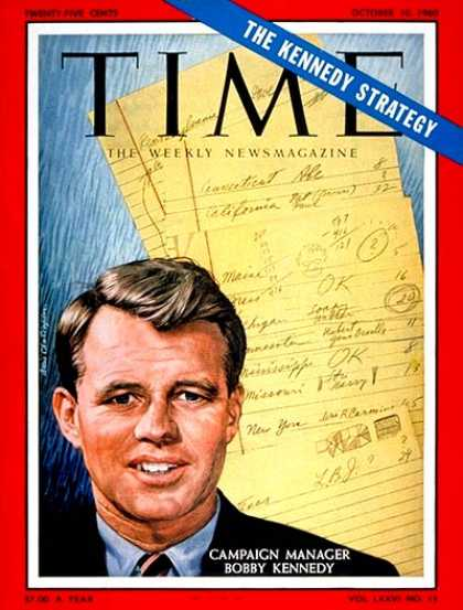 Time - Robert F. Kennedy - Oct. 10, 1960 - Robert Kennedy - Presidential Elections - De