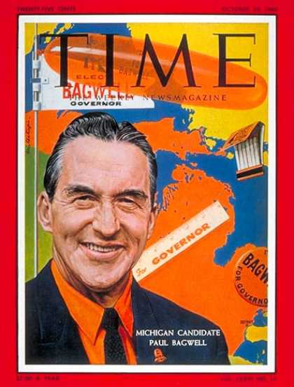 Time - Gov. Paul Bagwell - Oct. 24, 1960 - Governors - Politics