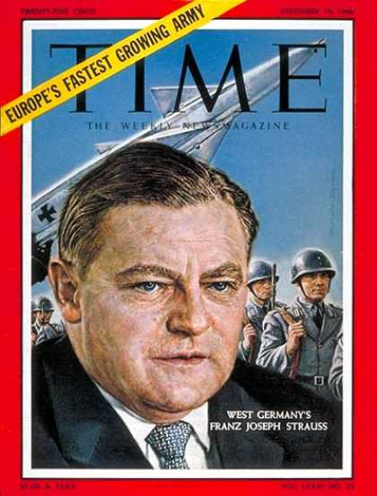 Time - Franz Joseph Strauss - Dec. 19, 1960 - NATO - Diplomacy - Germany