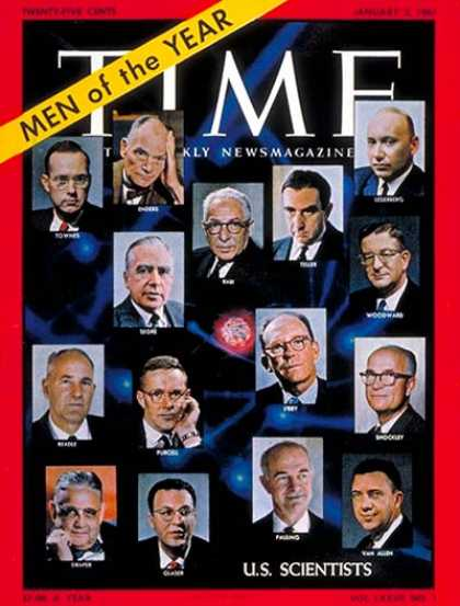 Time - U.S. Scientists Men of the Year - Jan. 2, 1961 - Person of the Year - Health & M