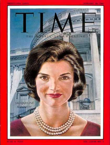 Time - Jacqueline Kennedy - Jan. 20, 1961 - Kennedys - Most Popular - First Ladies