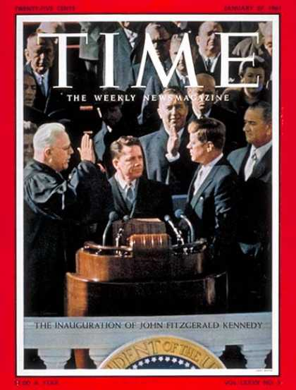 Time - Kennedy Inauguration - Jan. 27, 1961 - John F. Kennedy - U.S. Presidents - Kenne