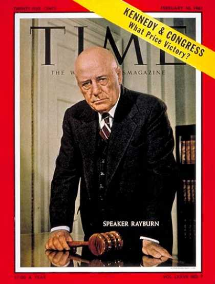 Time - Samuel T. Rayburn - Feb. 10, 1961 - Congress - Texas - Politics