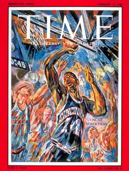 Time - Oscar Robertson - Feb. 17, 1961 - Basketball - Sports