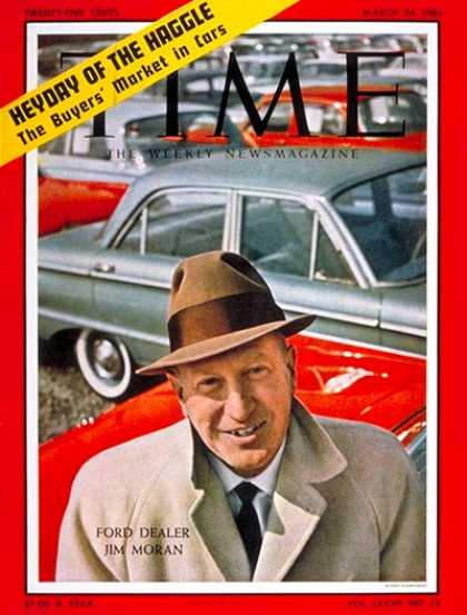 Time - James M. Moran - Mar. 24, 1961 - Cars - Automotive Industry - Transportation - B