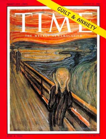 Time - Guilt and Anxiety - Mar. 31, 1961 - Painters - Art - Health