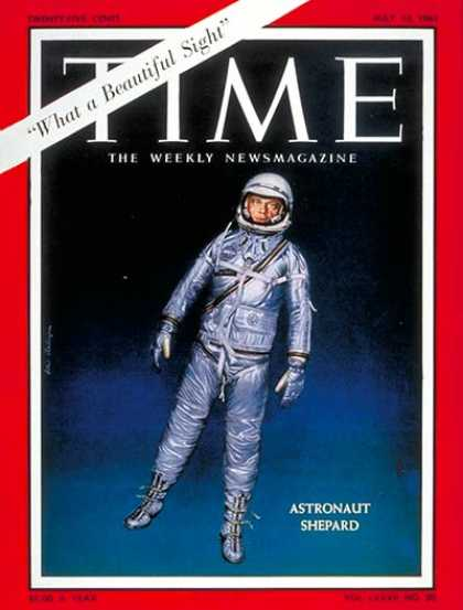 Time - Alan Shepard - May 12, 1961 - NASA - Astronauts - Space Exploration