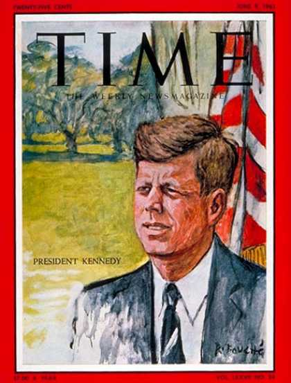 Time - John F. Kennedy - June 9, 1961 - U.S. Presidents - Kennedys - Most Popular - Pol