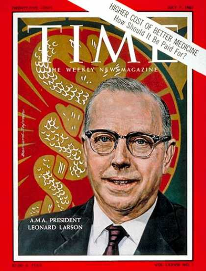 Time - Dr. Leonard Larson - July 7, 1961 - Health & Medicine