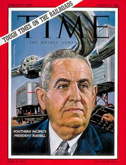 Time - Donald J.M. Russell - Aug. 11, 1961 - Transportation - Railroads